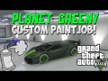 GTA 5 Online - Custom Paintjob ''Planet Greeny'' (GTA 5 Paintjobs)