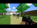 Counter Strike Source - Zombie Escape mod Multiplayer Gameplay Walkthrough on Minecraft map