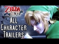 Zelda Hyrule Warriors ALL New Character Trailers