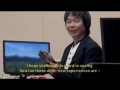 Shigeru Miyamoto playing Star Fox Wii U at Nintendo E3 2014