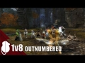 Guild Wars 2 - Warrior Outnumbered PvP 1v8